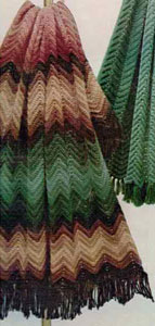 Zig Zag Striped Scarf for Hobby Lobby - Free Crochet Pattern