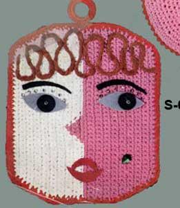 Funny Face Potholder Pattern