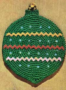 http://www.freevintagecrochet.com/potholder-pattern/coats312/christmas-ball-potholder