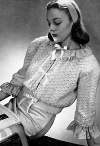 Bed Jacket | Free Vintage Crochet Patterns