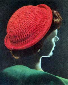 """Crochet Head-hugger Cap"" Crocheted Men's Hat Pattern by Coats and"