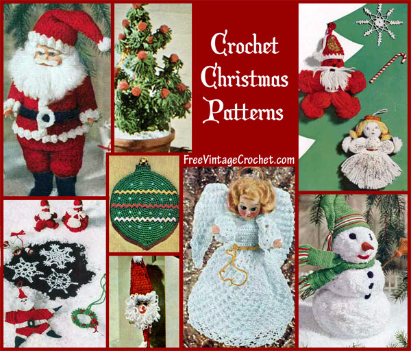 Free Crochet Pattern Christmas : Free Christmas Crochet Patterns Snowflake Patterns ...