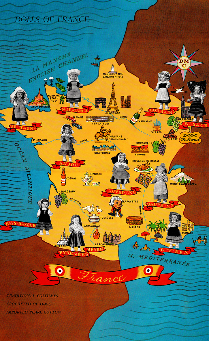 Dolls of France map