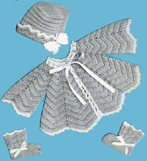 Baby's Filet Jacket - Free Vintage Crochet Pattern