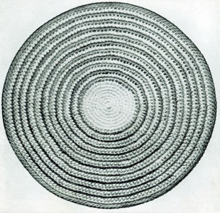 Free Crochet Pattern Circle Rug : HALF CIRCLE CROCHET RUG PATTERN