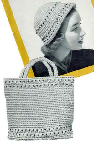 Free Vintage Crochet Bag Pattern : Beaded Tote Bag Crochet Patterns