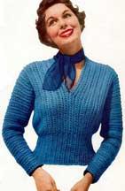 Crocheted Slipon Sweater Pg5-2star107