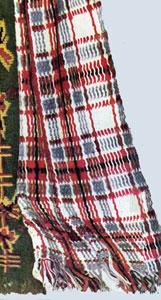 Crochet Pattern Plaid Afghan : Woven Scotch Plaid Afghan Pattern #5212 Crochet Patterns