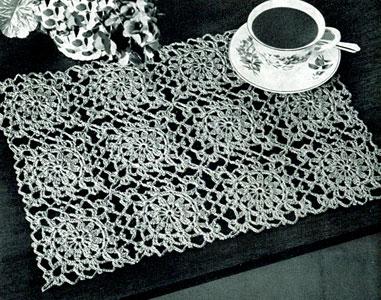 Free Patterns Crochet Thread : Motif Luncheon Set Pattern Crochet Patterns