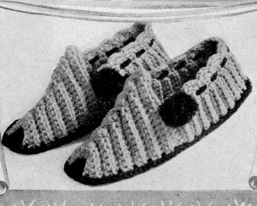 Las' Slipper Crochet Pattern - Antique Pattern