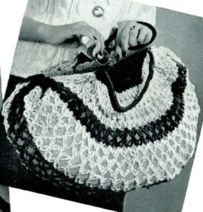 Free Vintage Crochet Bag Pattern : Shopping Bag Pattern #2117 Crochet Patterns