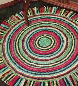 The Sunroom: Circular Crochet Rag Rug – Instructions