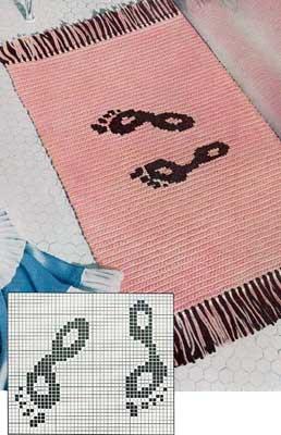 the footprint bath mat pattern crochet patterns. Black Bedroom Furniture Sets. Home Design Ideas