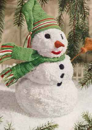 Grandmother's Pattern Book » free crochet snowman pattern