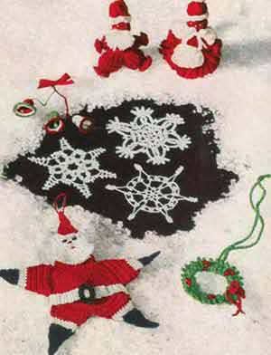 Free Crochet Wreath Pattern | Vintage Christmas Crochet Pattern
