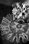 frilly doily