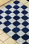 checkers rug pattern