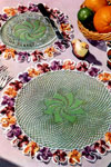 pansy doily luncheon set