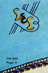 monogram towel pattern
