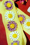 daisy chain curtain tie-back