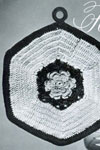 irish rose potholder