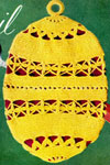 easter egg potholder