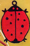 lady bug potholder