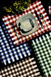 tartan place mat and glass jacket pattern
