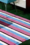 striped bedroom rug