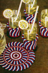 peppermint stick refreshment set pattern