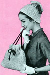top knot turban and bag