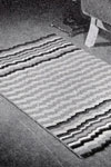 rippling harmony crocheted rug