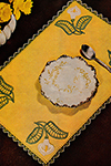 Table Doily in Crocheted Embroidery Pattern