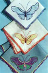 butterfly handkerchiefs pattern