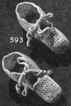 Crocheted Bootees Pattern 593