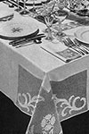 Dinner at Eight Tablecloth pattern