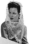 White Crocheted Shawl pattern