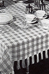 Chequers Tablecloth pattern
