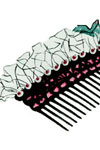 satin and sequins comb pattern