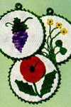 flower and grape potholder patterns