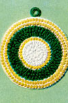white yellow and green potholder pattern
