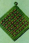 green plaid potholder pattern