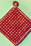 white dot potholder pattern