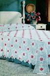 rose and pineapple bedspread