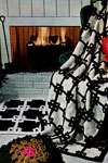 black and white afghan and rug patterns