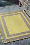 yellow and gray rug pattern