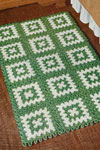 green and white rug pattern