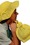 yellow picture hat and bag pattern