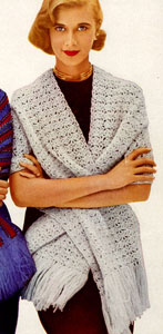 Free Crochet Pattern 30247 Country Cotton Shawl : Lion Brand Yarn